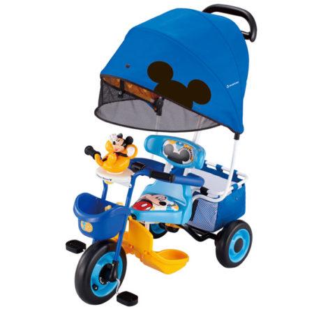 ides迪士尼米奇三輪車.推車1170・1171⦅折疊式半圓形遮陽棚加大⦆