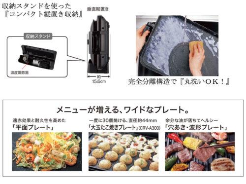 TIGER電烤盤「CRV-A300」「CRV-A200」