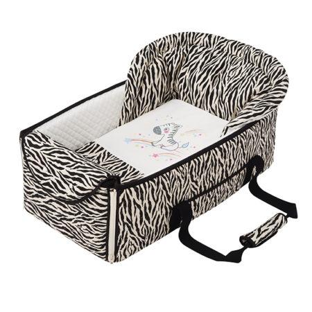 FUJIKI攜帶嬰兒床[日本製]斑馬・長頸鹿