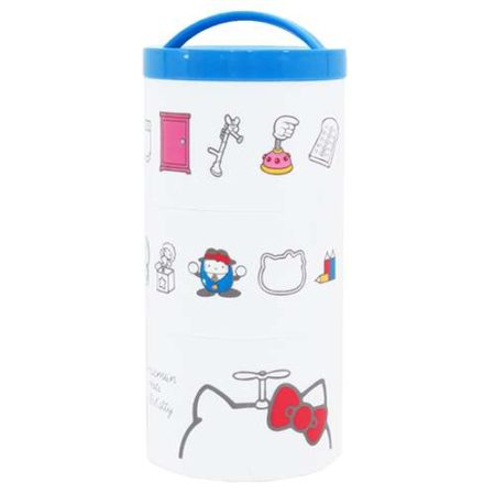 哆啦A夢×Hello Kitty 三段式午餐盒