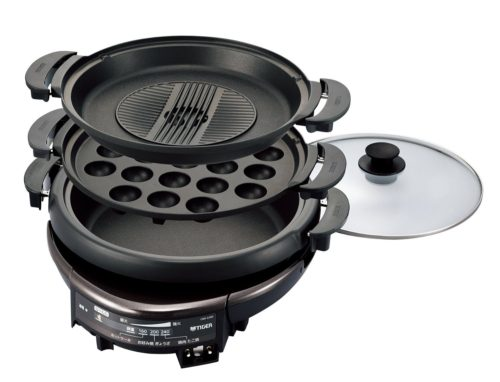 TIGER電烤鍋CQD-A300(章魚燒.烤肉.火鍋)