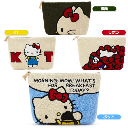 Hello Kitty相良刺繡化妝袋收納袋